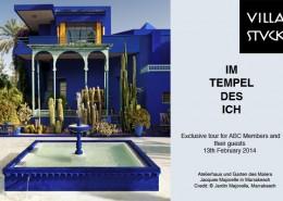 Atelierhaus und Garten des Malers Jacques Majorelle in Marrakesch Credit: © Jardin Majorelle, Marrakesch